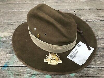 Aussie Army Slouch Hat - Akubra Brand New - Large Size 58 with badge & chinstrap