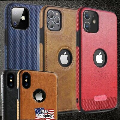 SLIM Luxury Leather Back Ultra Thin TPU Case Cover for iPhone X & 8/7/ Plus US