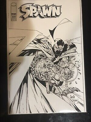 SPAWN 300 2019 NM+ BW B&W SKETCH COVER C TODD McFARLANE CAPULLO  CAMPBELL IMAGE
