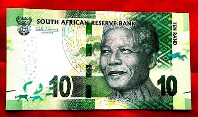 10 x SOUTH AFRICA 10 RAND BANKNOTES REAL NOTE 2012 MANDELA ND UNC CONSECUTIVE
