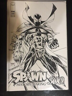 SPAWN 300 (2019) NM + B&W BW COVER C TODD McFARLANE CAPULLO  CAMPBELL IMAGE