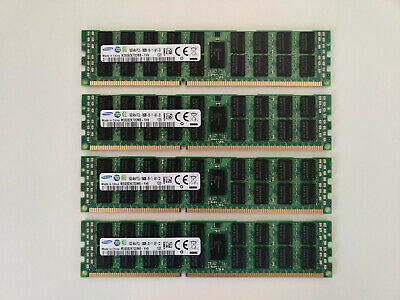 64GB (4x16GB) Samsung 16GB 4Rx4 PC3L-10600R DDR3 ECC Registered Memory