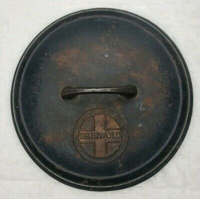 Griswold 8 Cast Iron Dutch Oven Lid 1288 self basting