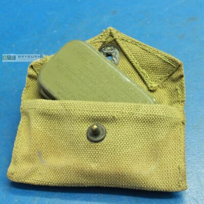 US WW2 Khaki Field Dressing Pouch with Carlisle Bandage - Original 1940