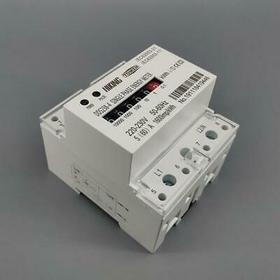 40A60A100A 220/230V 50/60HZ Single phase Din rail energy meter register dispaly