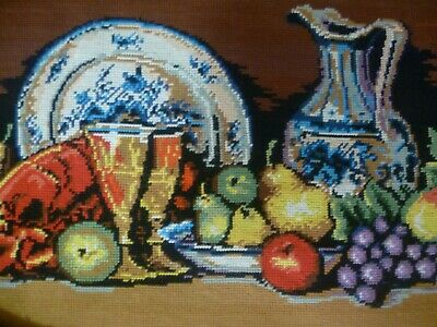 Vintage Quality Tapestry Elvico 1592  Fruit& Food Superb Worked Ready To Frame