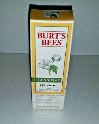 Brand NEW Burt's Bees Sensitive Eye Cream With Cotton Extract FULL SIZE SEALED