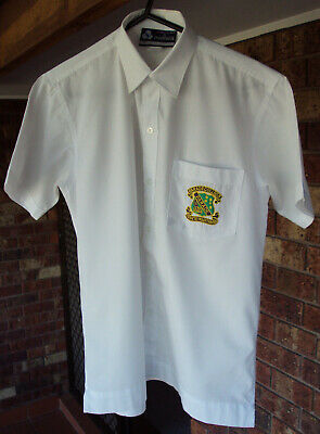 Boy's Size 14 Parade College Short Sleeve White Shirt