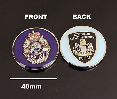 Australian Capital Territory Police Challenge Coin (social) - Defunct Agency