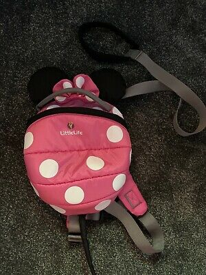 LittleLIfe Toddler Childrens  Minnie Mouse Backpack Reins lead