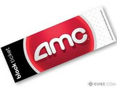 AMC Theater (1) One Black Movie Ticket - AMC Theatres  No Expiration *E-Delivery