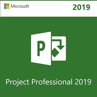 Microsoft Project 2019 Professional License Key 32/64 bit 1 PC+Download