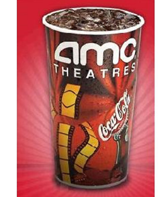 AMC Theatres (1) One Large Fountain Drink Theater Soda - Exp 6/2020  *E-Delivery
