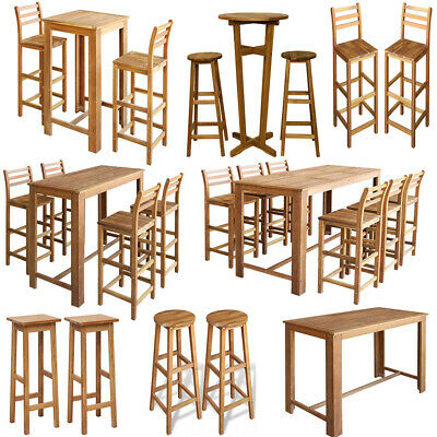 Modern Breakfast Bar Dining Table and Chairs Stool Set Wood Kitchen Table Stools