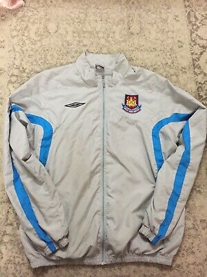 West Ham United Tracksuit Top - Large - Anthem Jacket Walk Out Umbro Men's