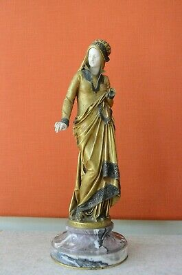 CARRIER-BELLEUSE (1824-1887)   La Fileuse  Bronze  Figur Dame um 1880