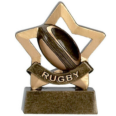 Personalised Rugby Mini Star Awards*Free Engraving*