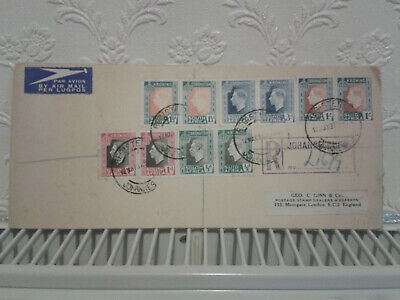 1937 Johannesberg South Africa First Day Cover FDC Coronation King George 6 KGVI