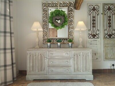 French,grey, rustic, distressed sideboard/dresser