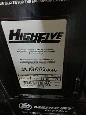 New Mercury Stainless High Five 19 pitch prop