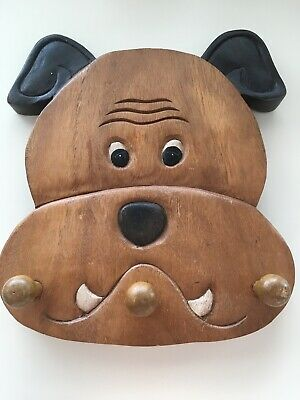 solid wooden novelty Dog pet Lead/Leash Coat Door Towel Hanger Holder Rack HOOK