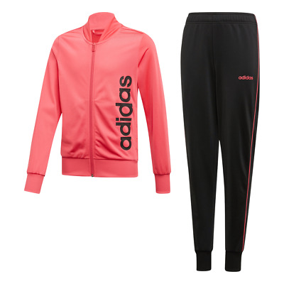Adidas Kids Linear Tracksuit Running Young Athlete School Sport Girls Gym EH6148