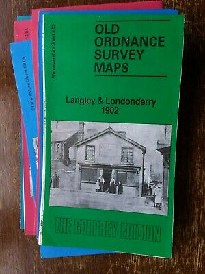 Old Ordnance Survey Map Langley and Londonderry 1902