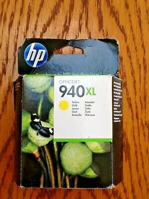 HP Officejet 940XL 'Yellow' Sealed Ink Cartridge 1400 Pages Dated APR 2014