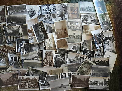 Big Lot of  75 Real Photo Postcards Worldwide Mixed ages Nice Mix