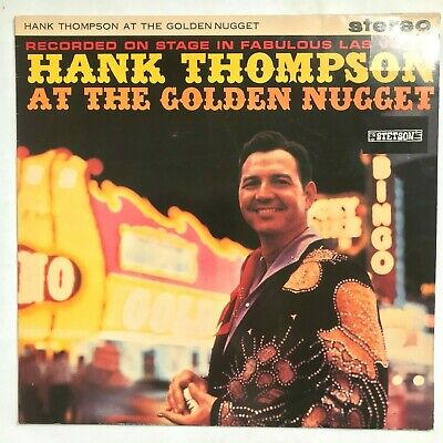 HANK THOMPSON At The Golden Nugget Country Vinyl LP Stetson ‎– HAT 3076 VG+/VG