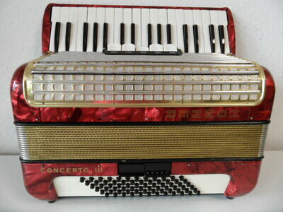 Hohner Concerto III 72 Bässe guter zustand very good conditions+Koffer