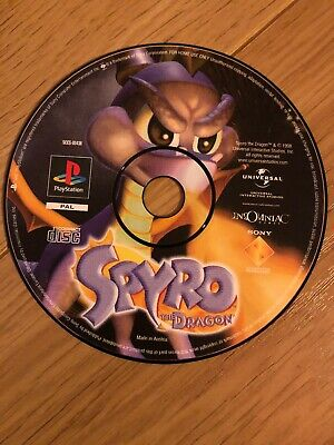 ps1 Spyro The Dragon (Sony PlayStation 1)DISK ONLY