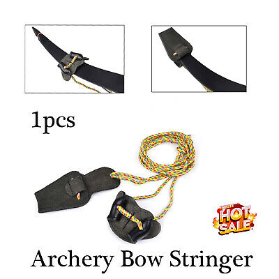 1XArchery Recurve Bow Stringer Traditional – Bowstrings Tool Leather 2.2 Yard