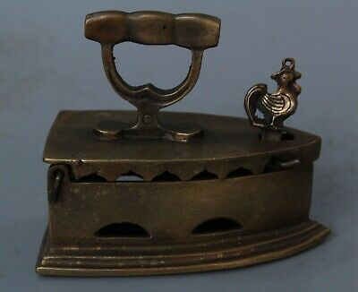 China Collectable Handwork Old Copper Carve Ancient Auspicious Ironing Statue