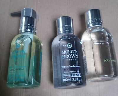 molton brown 3 piece travel set 2 x body lotion Hand wash 100ml