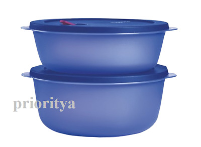 Tupperware Crystalwave Microwave Container Plus Large Set of 2 New