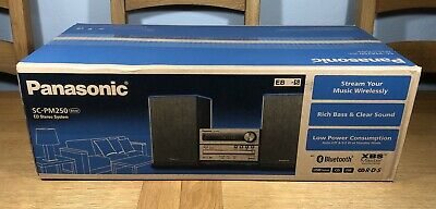 Panasonic SC-PM250 Bluetooth Hifi Stereo System CD Player USB XBS 20W BNIB