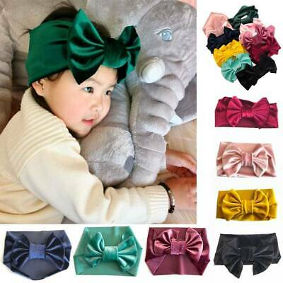 Toddler Girls Baby Big Bow Hairband Headband Stretch Turban Knot Head Wraps hot