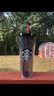 Fall 2019 STARBUCKS SPIDERWEB Glitter TUMBLER CUP Limited Edition HALLOWEEN New