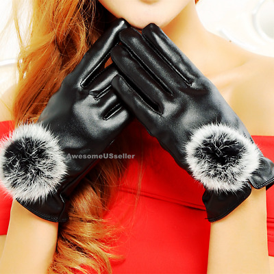 Women Winter Snow Gloves Windproof Warm Waterproof Thermal Insulated Leather