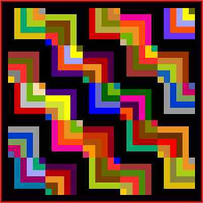 """KERFUFFLE - 65"""" - Pre-cut Quilt Kit by Quilt-Addicts Small Double size"""