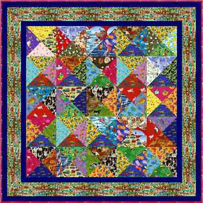 """I SPY - 59"""" - Pre-cut Quilt Kit by Quilt-Addicts Lap size"""