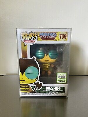 Funko Pop ECCC 2019 #759 Buzz-Off Masters Universe Shared Exclusive MOTU w/ prot