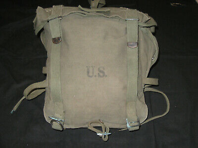 WWII US Army Combat Field Pack / Backpack M-1945 w/Suspenders Excellent Cond.