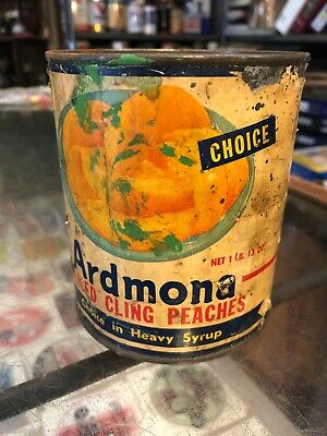 Ardmona Peaches Vintage 1 Lb Used Metal Tin