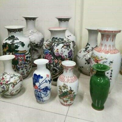 10pc Assorted  Antique Porcelain Vases