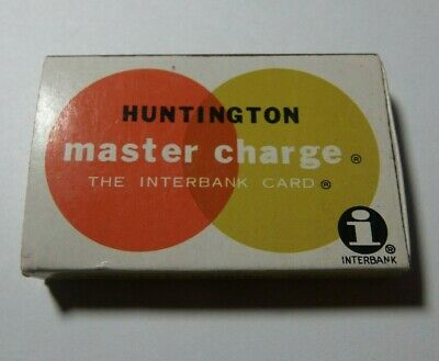 Huntington National Bank Matchbook Master Charge Interbank Card Vintage 1970s