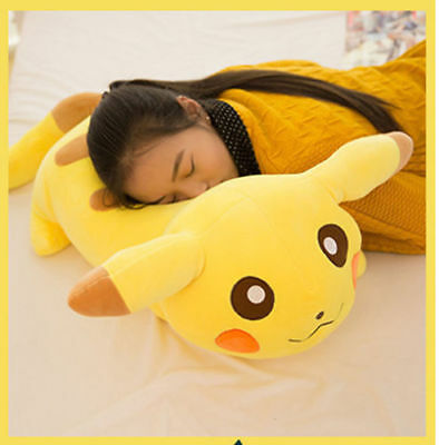 60CM Big Large Pikachu Pillow Stuffed Pokemon Anime Soft Plush Toys Doll Gifts