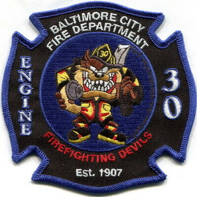 """Maryland - Baltimore City FD Engine 30 current style """"Taz"""" patch"""
