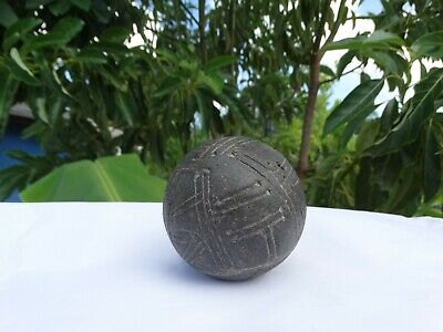 "Pre- Columbian LARGE Taino Stone Game Ball ""Batey"""